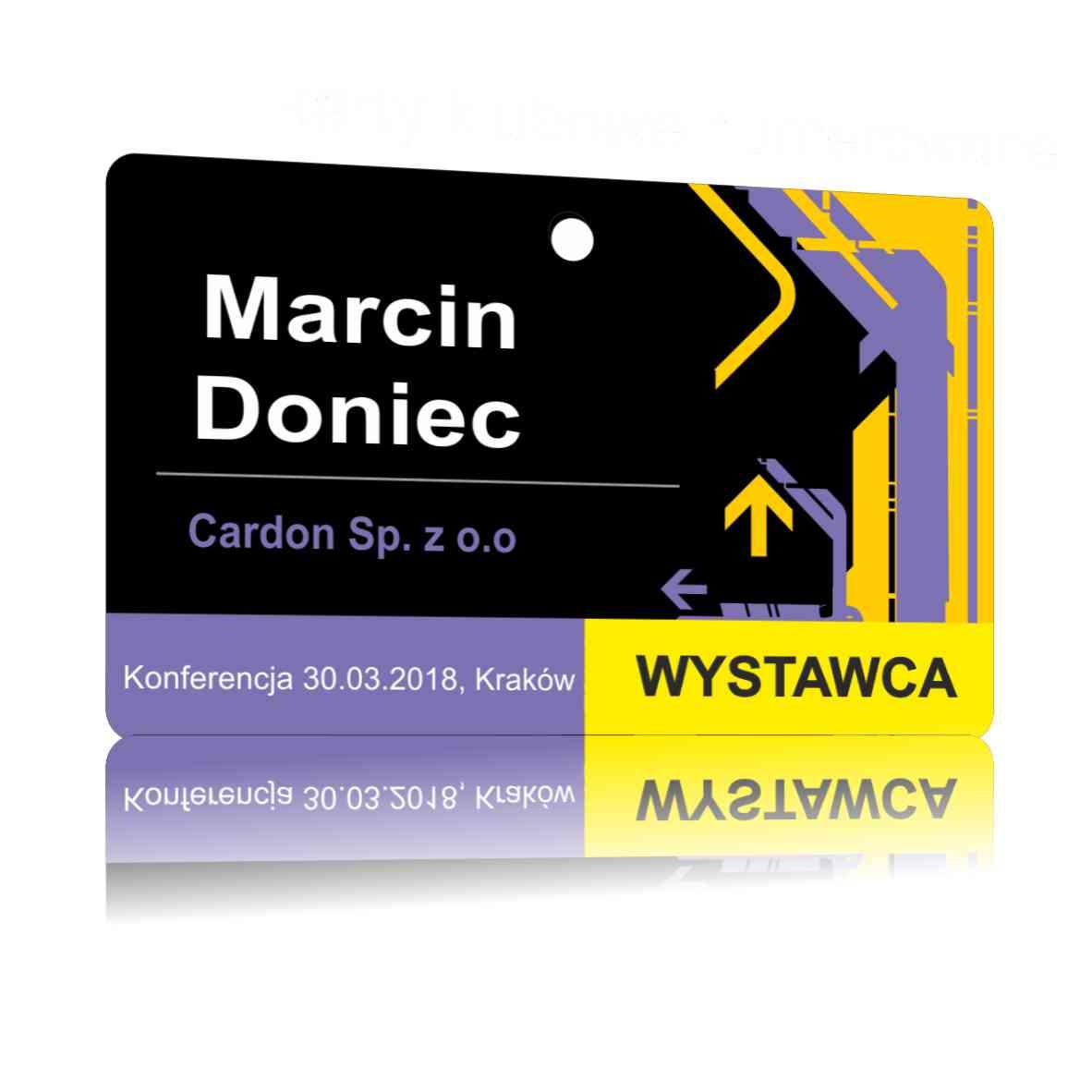 Karty plastikowe sklep - Identyfikatory konferencyjne