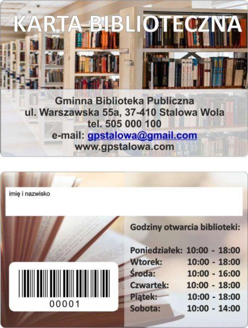 Plastikowe karty biblioteczne