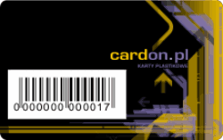 kod kreskowy na karcie plastikowej